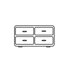 cupboard icon vector image
