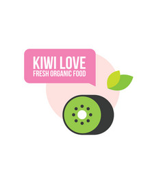 cute organic fresh kiwi food background vector image