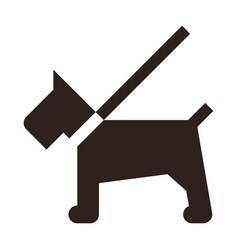 Dog on a leash icon vector