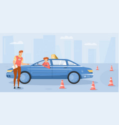 Driving school background vector