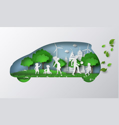 Eco car concept with liftstyle vector