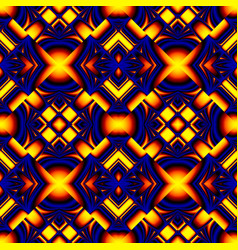 fiery blue seamless pattern vector image