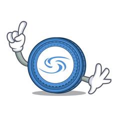 Finger syscoin mascot cartoon style vector