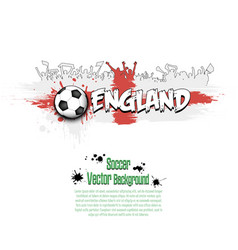 Flag of england and football fans vector