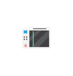 Flat game console element of vector