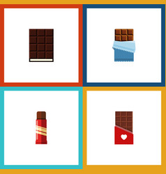 Flat icon chocolate set of dessert chocolate vector
