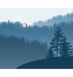 Forest trees bg vector