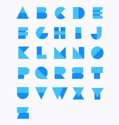 geometric paper alphabet set vector image
