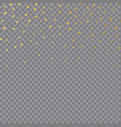 Gold foil confetti christmas texture for holiday vector