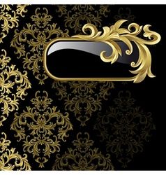 Gold frame from abstract vector