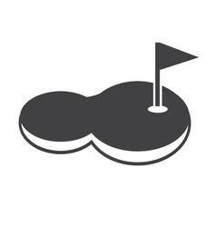 golf court icon vector image