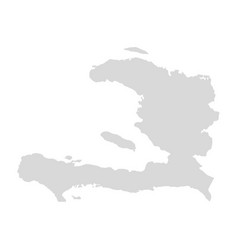 haiti map dominican haiti vector image