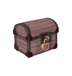 hand drawn pirate chest vector image
