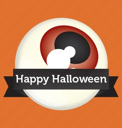 Happy Halloween Eyeball Banner vector image