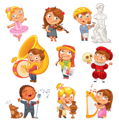 Hobbies funny cartoon character vector