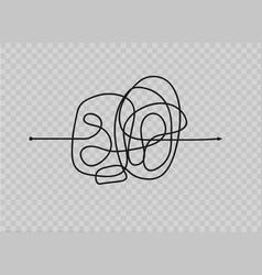 insane messy line vector image
