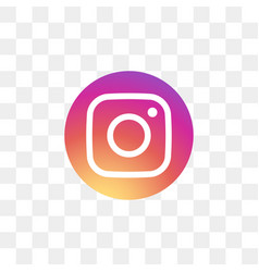 Instagram social media icon design template vector