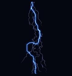 Lightning flash light thunder spark on black vector