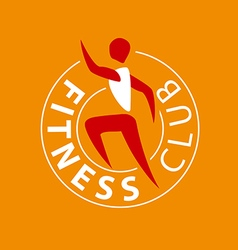 logo man running for fitness club vector image