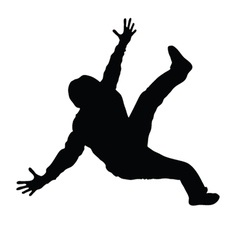 Man dancing black silhouette vector