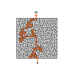 maze isolated labyrinth game puzzle vector image