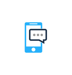 mobile chat logo icon design vector image
