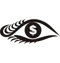 Money Eyes vector image