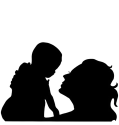 mother with a baby on her hands vector image vector image