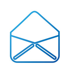 Open envelope email virtual web app vector
