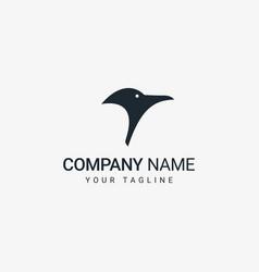 penguin head logo vector image