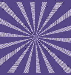 popular sun rays background ultra violet color vector image