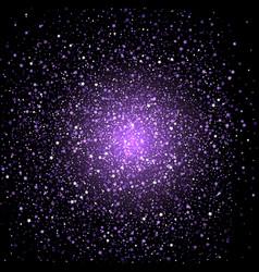 Purple star confetti background vector