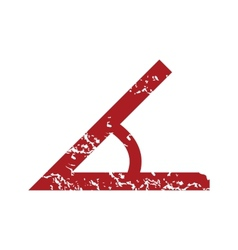 Red grunge sign of the angle logo vector