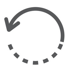 Rotate glyph icon tools and design circle sign vector