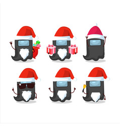 Santa claus emoticons with ghost among us black vector