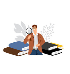 Scientist male character vector