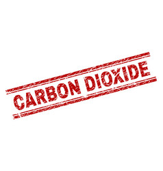 Scratched textured carbon dioxide stamp seal vector