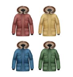 Set of winter coats vector