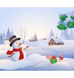 snowy scene vector image