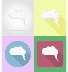 Speech bubbles flat icons 05 vector