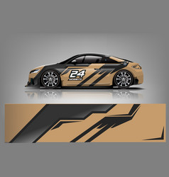 Sport car racing wrap design design - vec vector