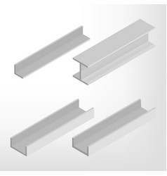 Steel beam isometric vector