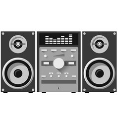 Stereo audio system home music center isolated on vector