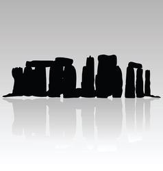 stonehenge silhouette in black vector image