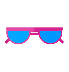 Sunglasses icon eyes protection on a sunny vector