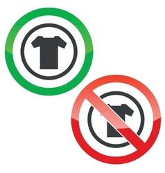 T-shirt permission signs vector