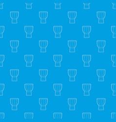 tam tam pattern seamless blue vector image
