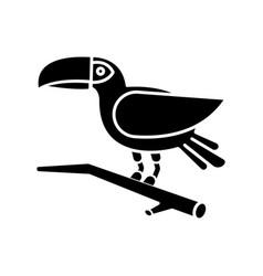 Toucan black glyph icon exotic bird brazilian vector