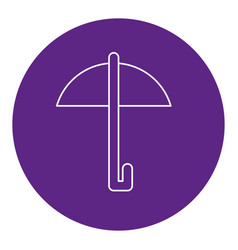 Umbrella protection isolated icon vector