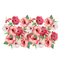 vintage floral seamless border bouquet of vector image